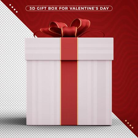 带装饰丝带的礼品盒庆祝情人节