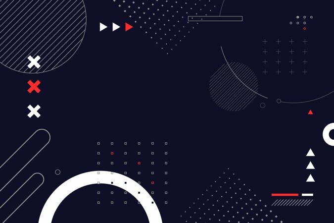 平面抽象线框背景
