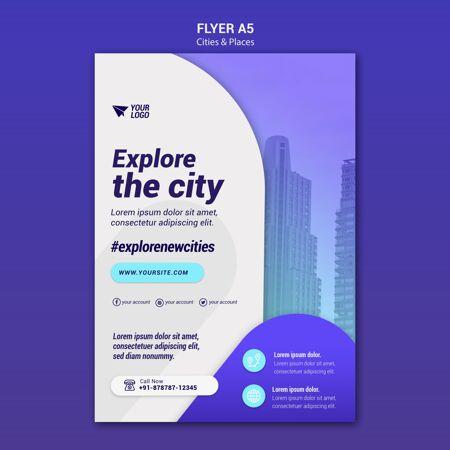 城市和地方传单模板