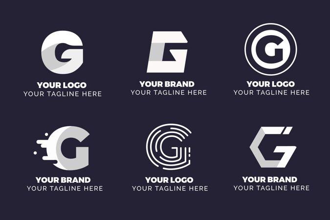 平面g字母标志收集