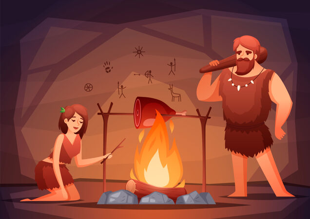 石器时代史前家居室内平面构成插图