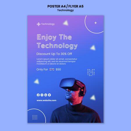 虚拟现实海报模板