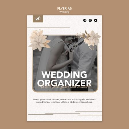 婚礼组织者传单模板