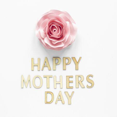 母亲节的庆祝与鲜花俯瞰
