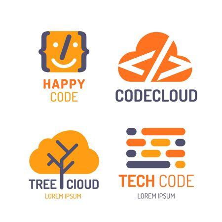 平面设计代码徽标集合